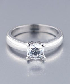 Anillo Oro Blanco Diamante 0,70 ct